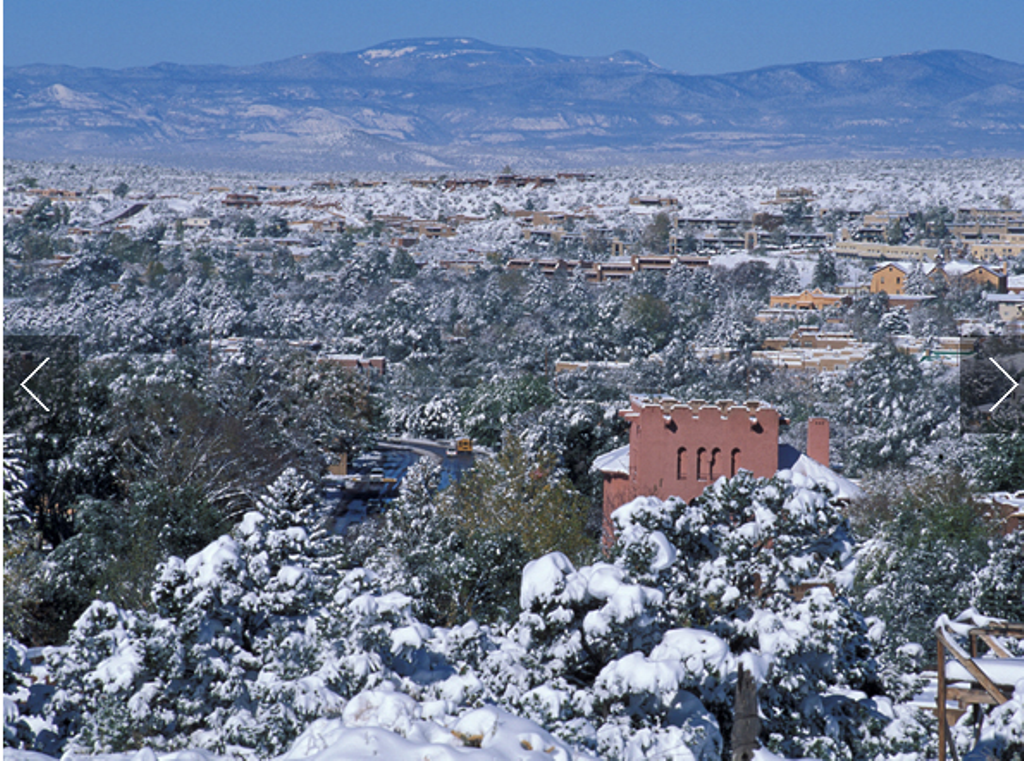 With the snowcapped Sangre de Cristo Mountains as a backdrop, this famously artsy city blends Spanish, Native American, and Anglo cultures.