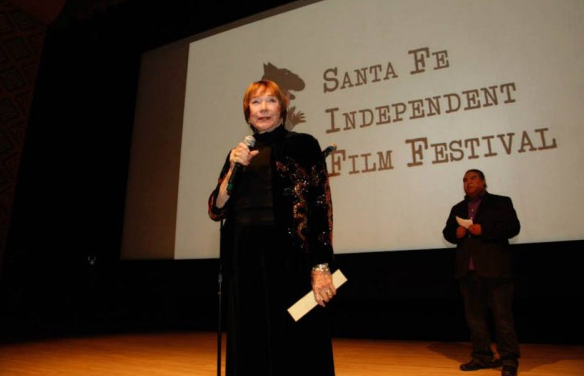 Actress Shirley MacLaine addresses the Santa Fe Independent Film Festival crowd. Photo courtesy of Santa Fe Independent Film Festival