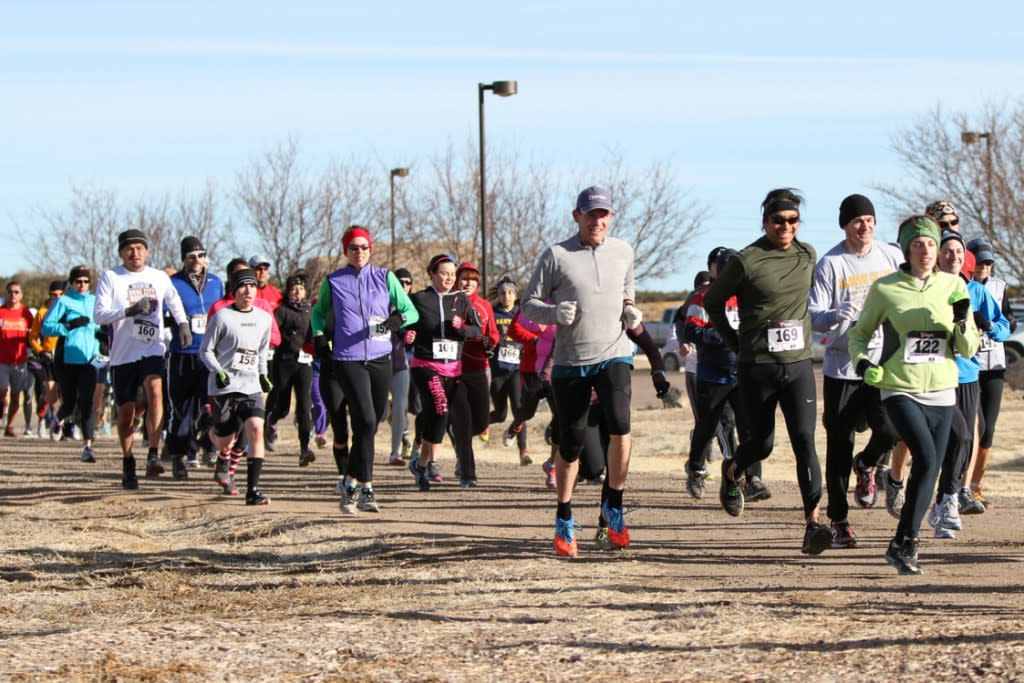 Run in the great outdoors on a February day! Loco! (Photo courtesy of High Desert Dirt)