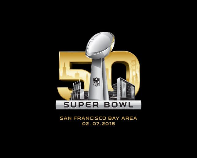 The logo for Super Bowl 50, which will be played at Levi's Stadium on Feb. 7, 2016.