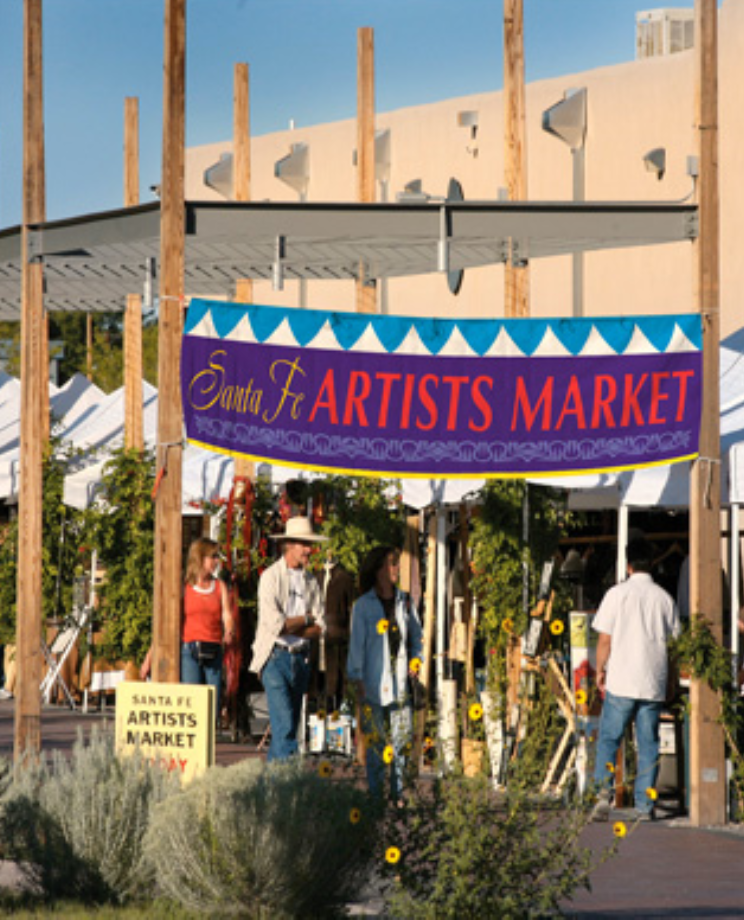 Peruse the many works of Santa Fe's artists at the Artists Market. (Photo courtesy of Santa Fe Artists Market)