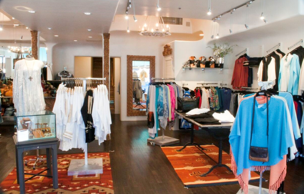 She's sure to love the selection of women's clothing and accessories at Malouf's on the Plaza. (Photo courtesy of Malouf's on the Plaza)
