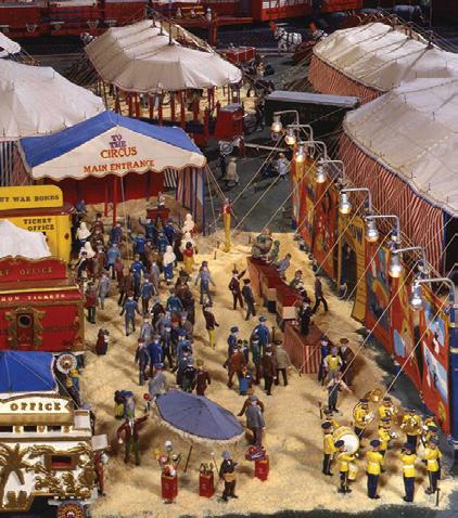 An estimated 100,00 pieces make up The Morris Miniature Circus. (Photo courtesy of Museum Of International Folk Art)