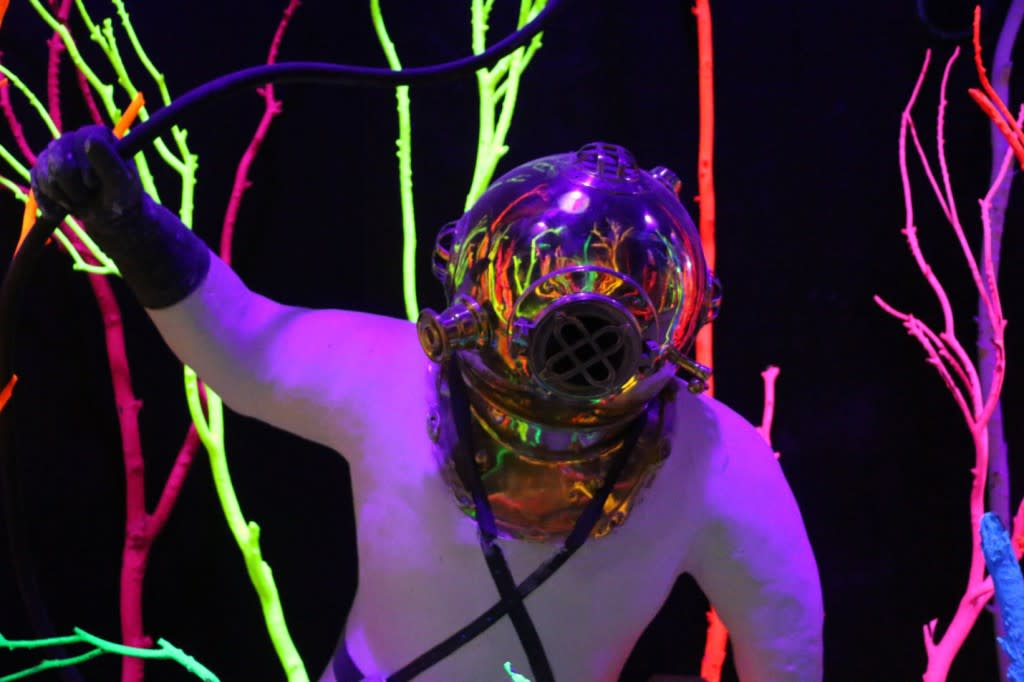 "Run into a deep sea diver? Only at Meow Wolf's ""House of Eternal Return""! (Photo courtesy of TOURISM Santa Fe)"