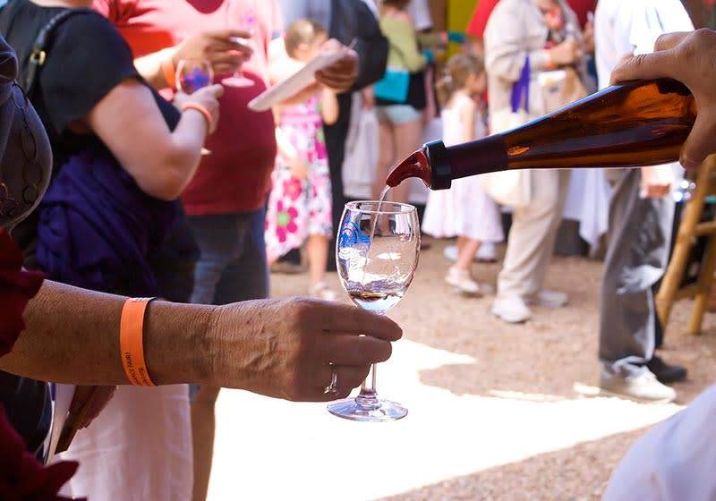 Sample delicious New Mexico wines, buy directly from the vintners and enjoy food, music and arts & crafts. (Photo courtesy of Rancho de las Golondrinas)