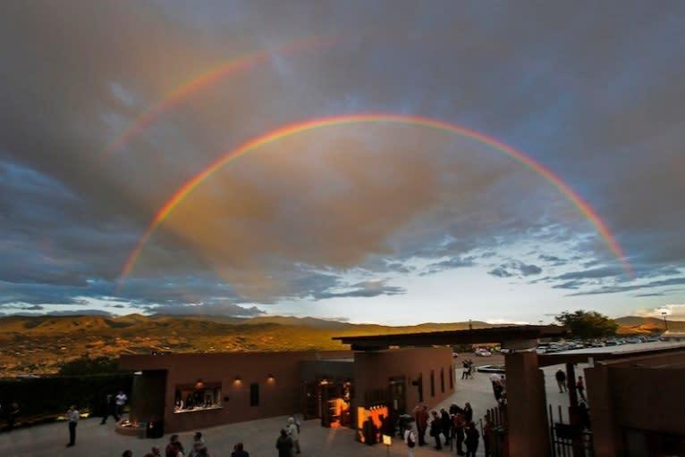 The views and performances at the Santa Fe Opera are breathtaking. (photo courtesy of Ken Howard for Santa Fe Opera)