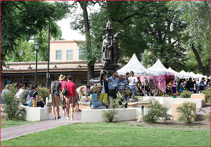 Stroll through Cathedral Park and view some of the best craftsmanship in Santa Fe. (Photo courtesy of Santa Fe Artists Market)