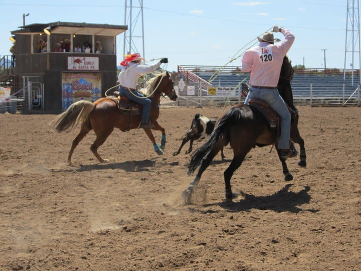 Team roping is one of many events at this year's New Mexico Gay Rodeo (Photo courtesy of TOURISM Santa Fe)