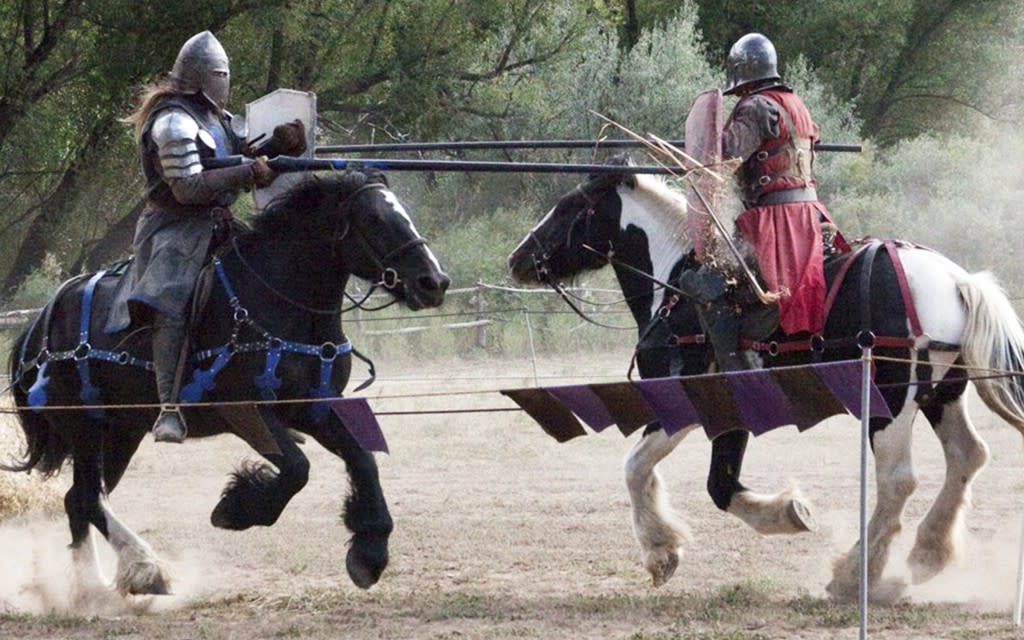 Here's your chance to witness a medieval joust! (Photo courtesy of El Rancho de las Golondrinas)