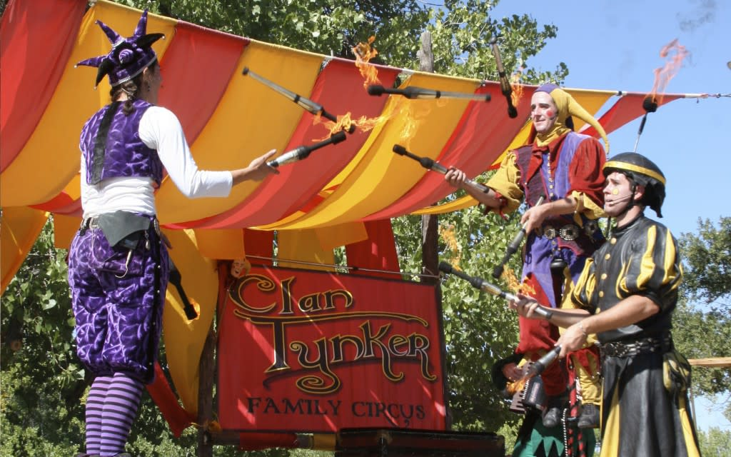 The ever popular Clan Tynker Family Circus returns to this year's Renaissance Fair. (Photo courtesy of El Rancho de las Golondrinas)