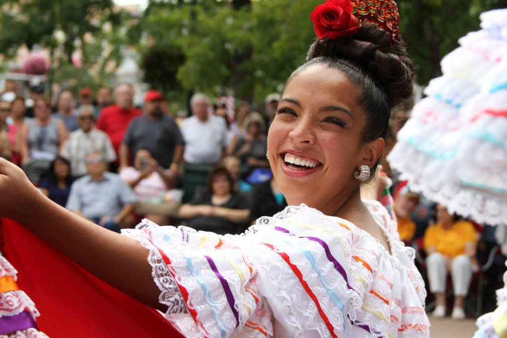 Nothing says Santa Fe Fiesta like folkloric dances on the historic Santa Fe plaza! (Photo courtesy of H.L. Lovato)