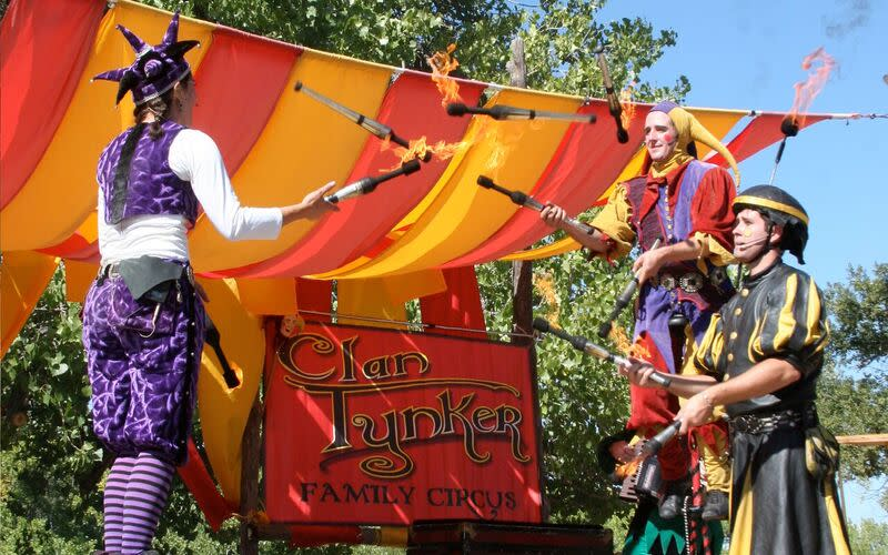 You'll be awed by Clan Tynker's feats of magic and musical mayhem. (Photo courtesy of Rancho de las Golondrinas)
