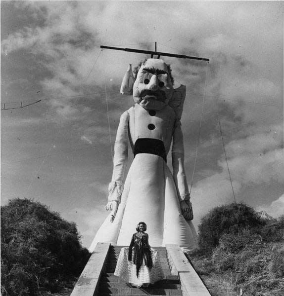 Zozobra seen here in the 1940's. (Photo courtesy of The Burniing of Will Schuster's Zozobra)