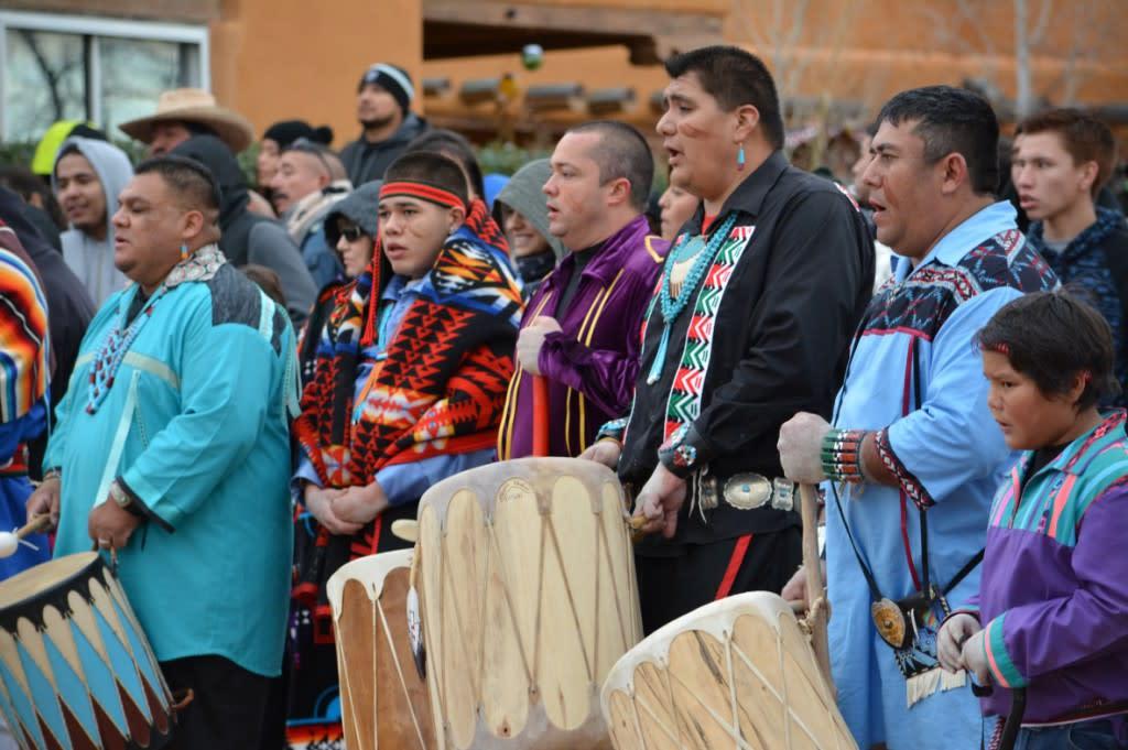 Pojoaque Pueblo Tribal Officials, Drummers and Singers
