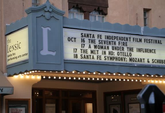 The Lensic Performing Arts Centers is one of the many venues for the Santa Fe Independent Film Festival. (Photo courtesy of Santa Fe Independent Film Festival)