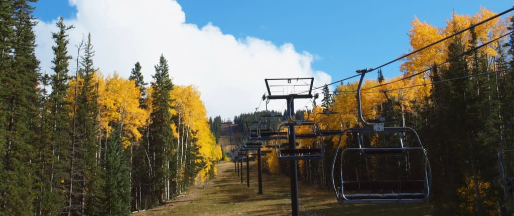This is one fall experience you will never forget! (Photo courtesy of Ski Santa Fe)