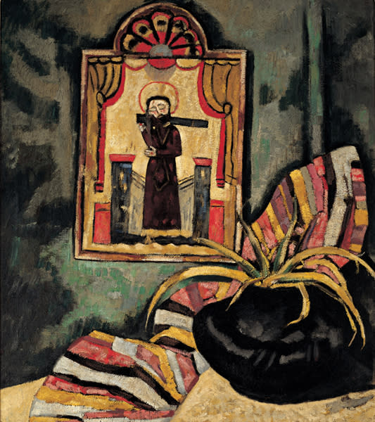 El Santo , 1919 Marsden Hartley oil on canvas 36 x 32 in. Anonymous gift from a friend of Southwest art, 1919 523.23P
