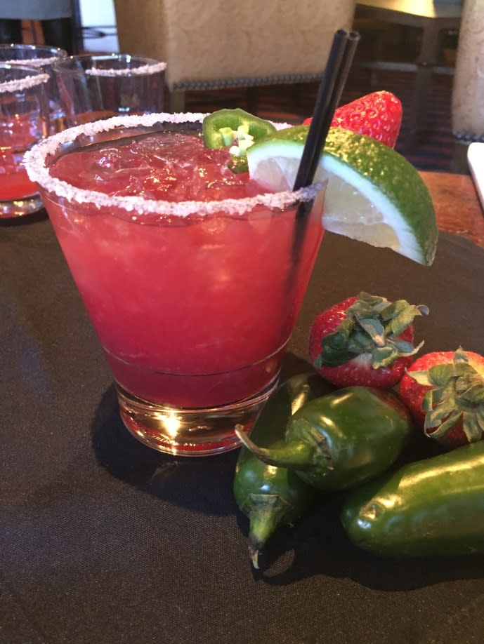 Now's the time to sample the strawberry jalapeno margarita from Luminaria Restaurant. (Photo courtesy of TOURISM Santa Fe)