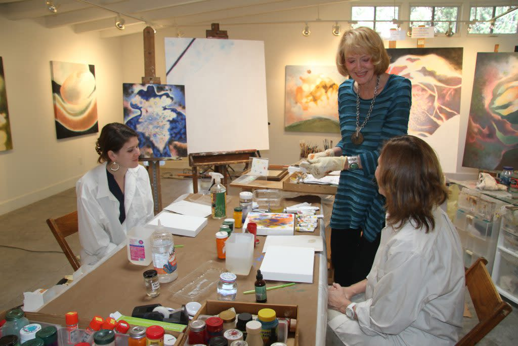 Visit Shirley Crow's studio and create your own art. (Photo courtesy of Shirley Crow)