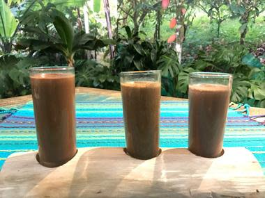 "Sample chocolate drinks from around the globe at ""Food of the Gods"" workshop. (Photo courtesy of Cacao Santa Fe)"