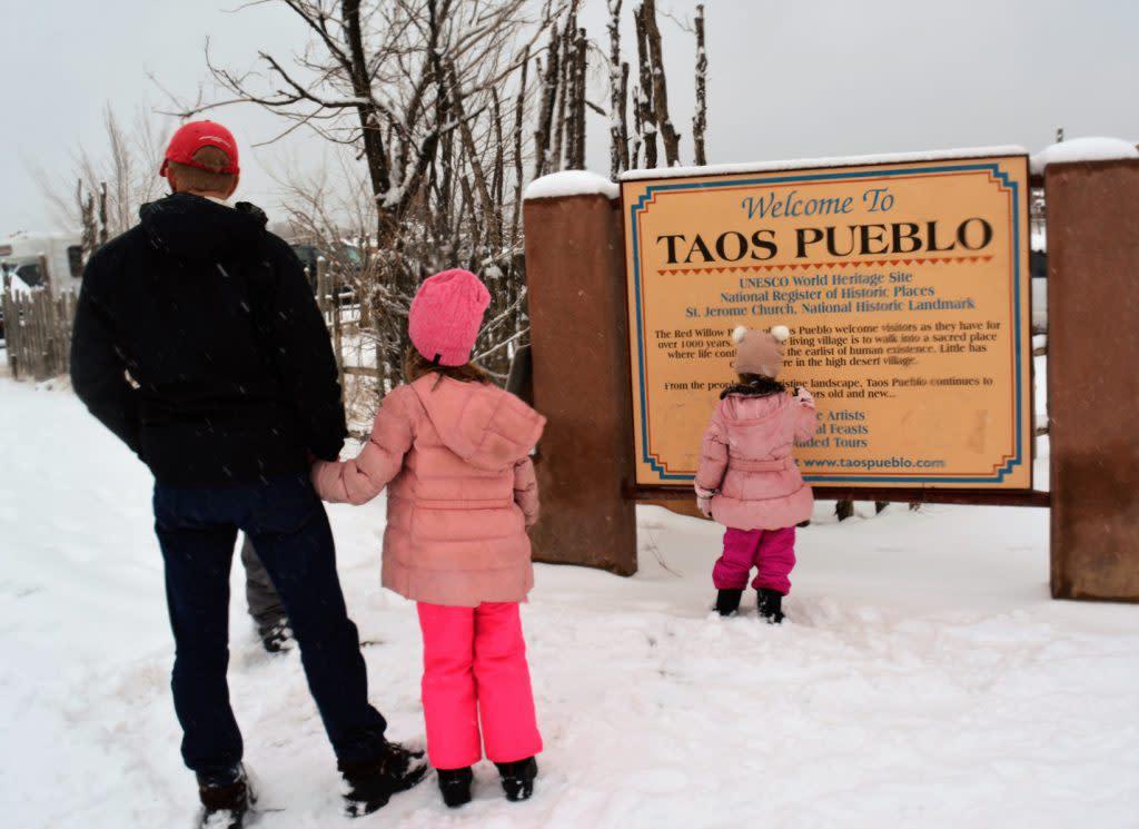 Taos Pueblo visitors
