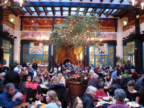 La Plazuela at La Fonda is Santa Fe's gathering place. (Photo courtesy of La Fonda Hotel)
