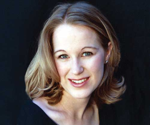 Kathryn Mueller sings along with Santa Fe Pro Musica Baroque ensemble. (Photo courtesy of Santa Fe Pro Musica)