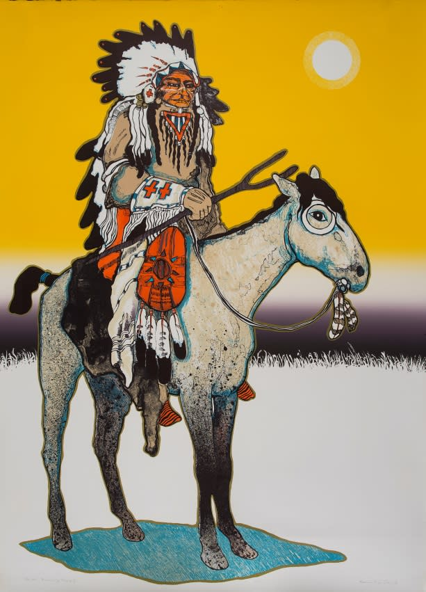 Running Rabbit, Kevin Red Star, 1978, Collection of the New Mexico Museum of Art