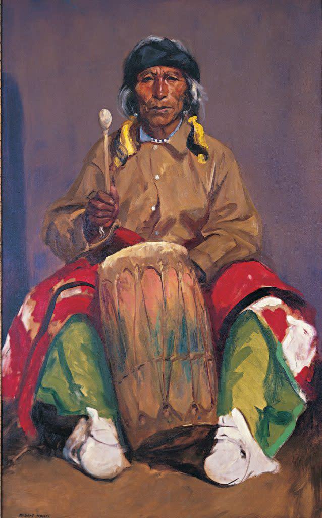 Portrait of Dieguito Roybal, San Ildefonso Pueblo, 1916, Robert Henri (1865–1929), New Mexico Museum of Art