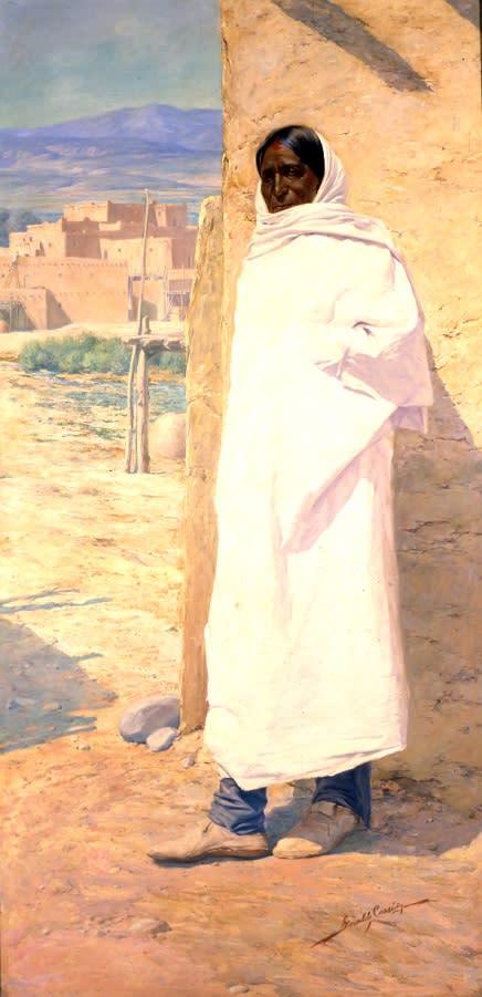 Cui Bono?, Taos Pueblo Man, 1911, Gerald Cassidy (1869–1934), New Mexico Museum of Art