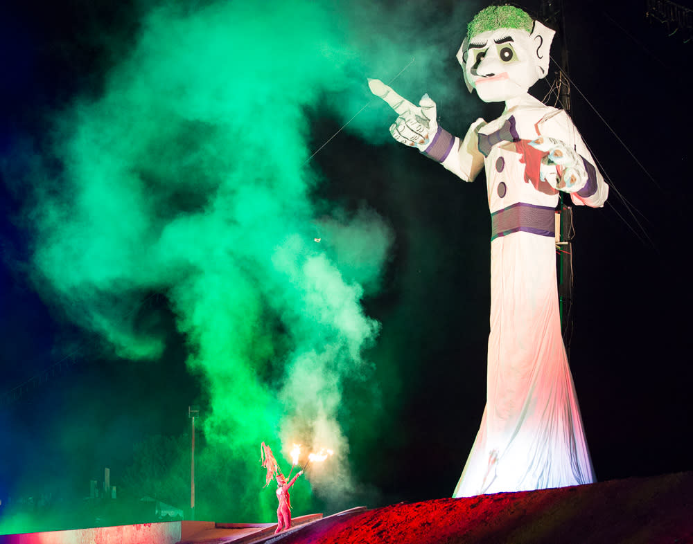 The Fire Dancer torches Zozobra! (Photo courtesy of The Burning of Will Shuster's Zozobra)