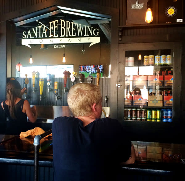 Take a seat, order a microbrew at New Mexico's oldest brewery. Courtesy photo: Santa Fe Brewing