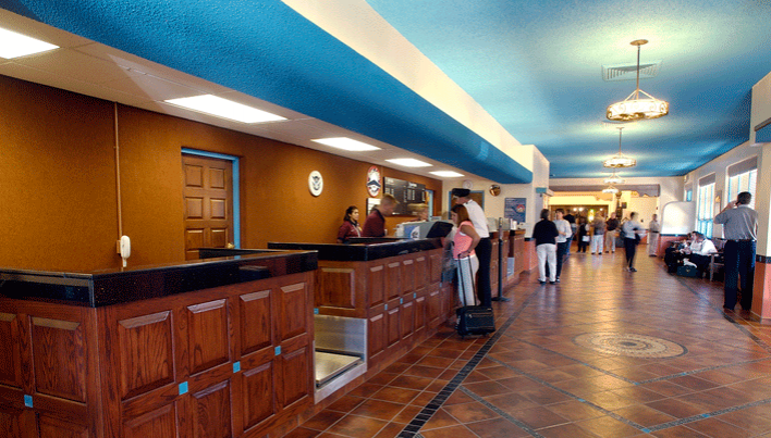 You've landed at the Santa Fe Airport. Rent a car? Cab? Shuttle service?