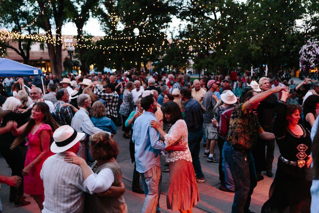 Santa Fe Bandstand in July