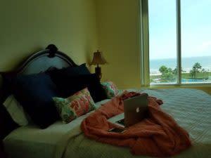 hotel room beach view