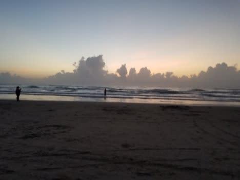 blurry beach photo