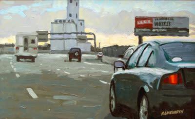 Utah Expressway, oil painting by Richard Niewerth, photo by Richard Niewerth