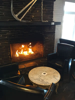 Fireplace at Blackwall Hitch