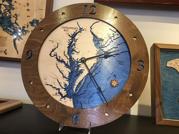 Nautical North Wooden Charts