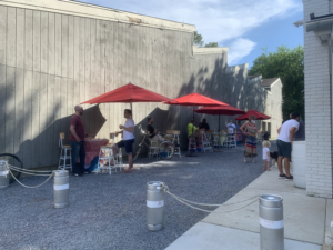 outdoor dining at forward brewing co.
