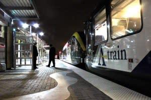 A-train, Downtown Denton Train Center,