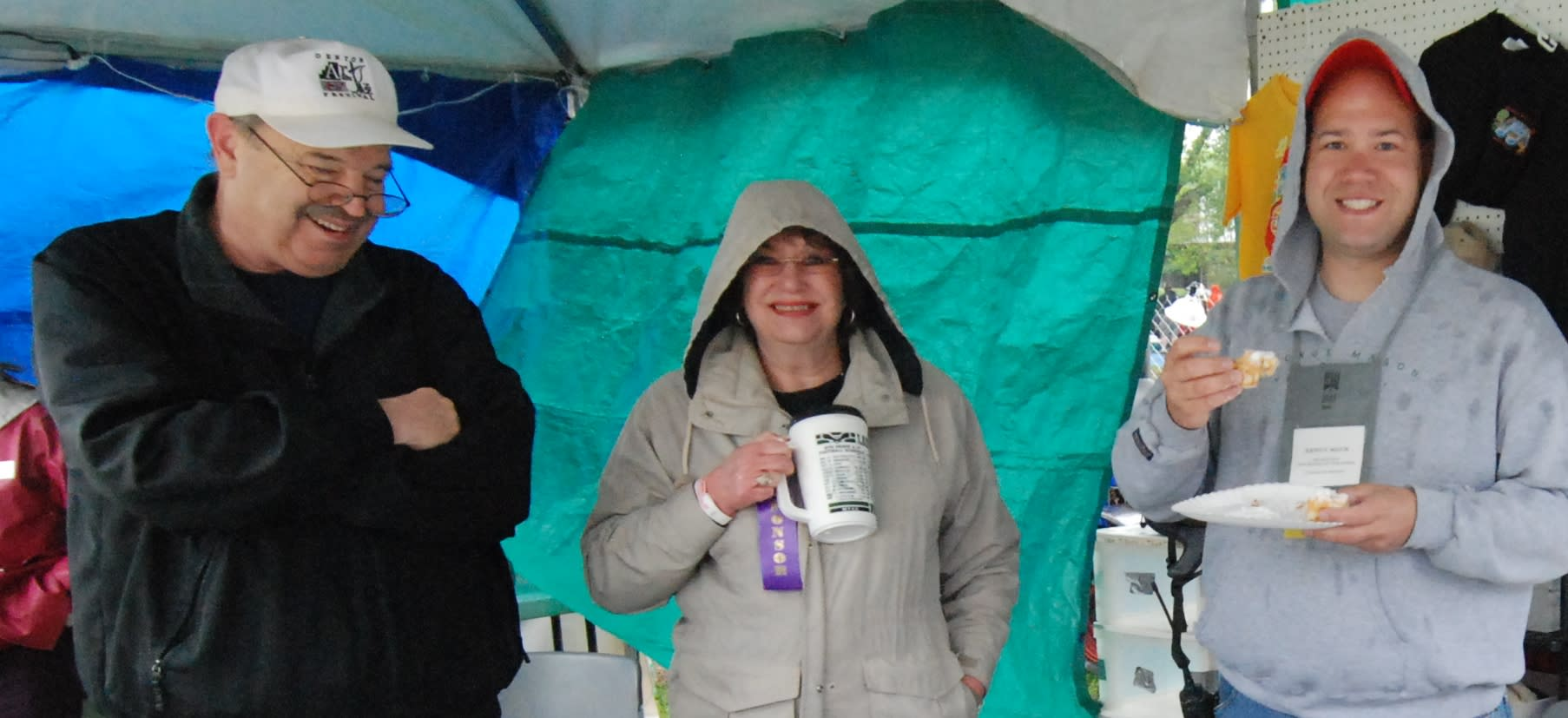Volunteers on their own time, rain or shine
