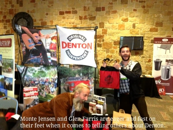 Monte Jensen and Glen Farris in CVB booth