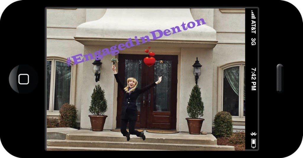 Engaged in Denton, wedding contest, dallas weddings, win
