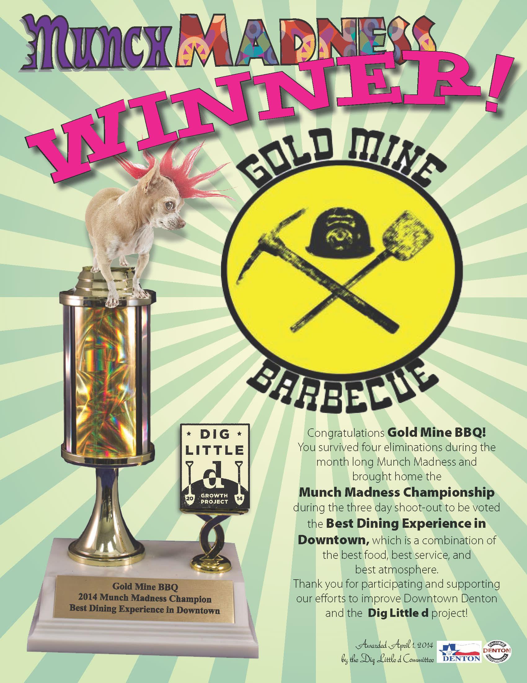 2014 MunchMadness Winner_GoldMineBBQ