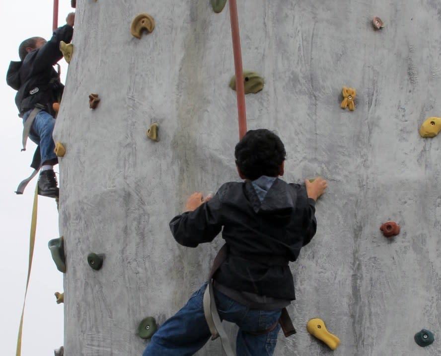 GreenFest rock climb
