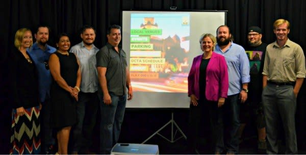 From the Future team and the Denton CVB team were all smiles at the Dig Little d App unveiling.