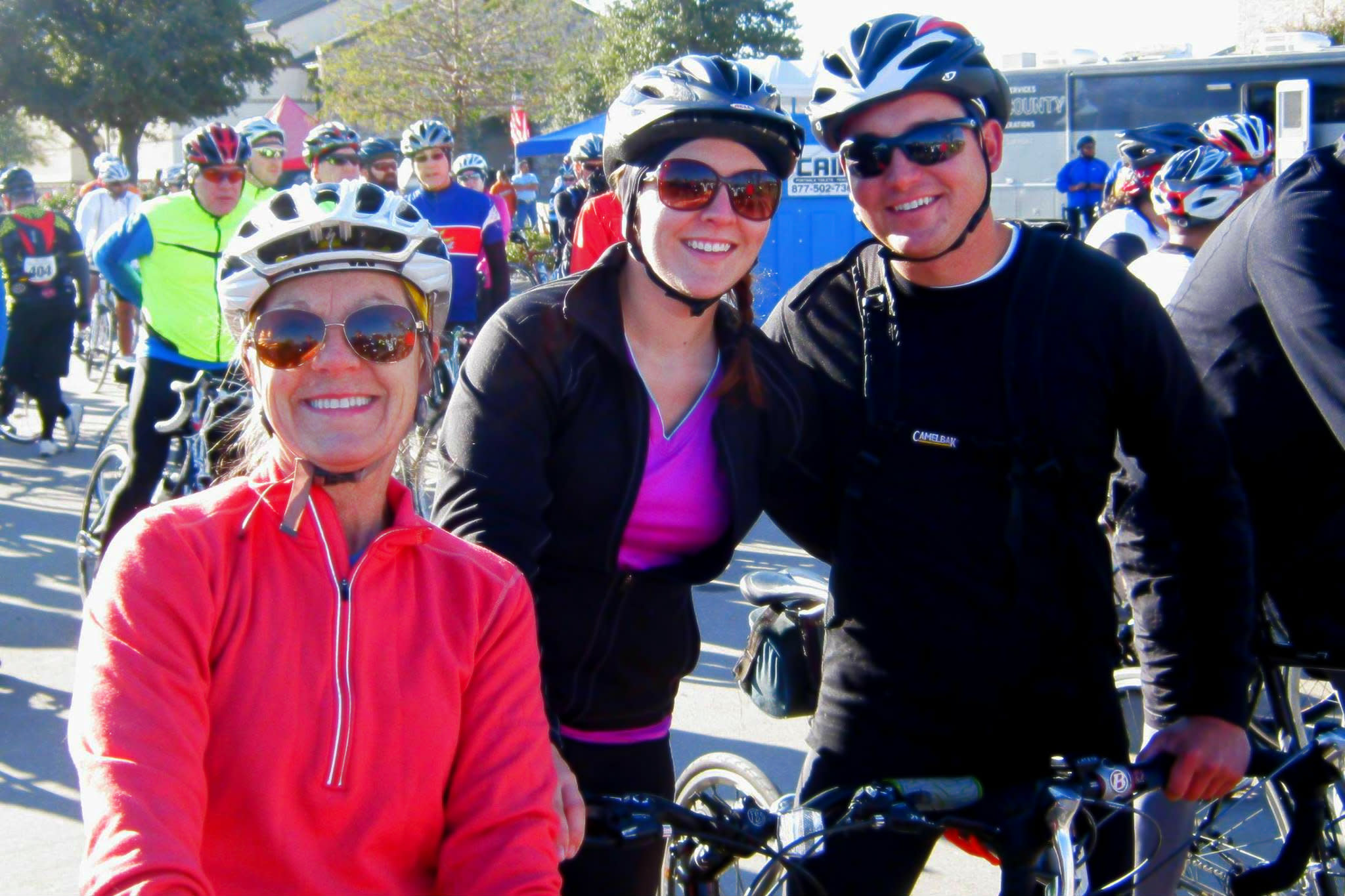 Over 20 years participating!! This group makes the Turkey Roll Bicycle Rally a family affair.