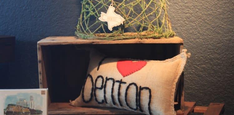 I heart Denton pillow, the DIME Store