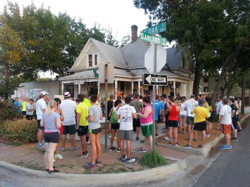 OSDH&CP Social Run, Oak Street Draft House social run, wednesday night, downtown denton, square, drinks, beers, exercise, running, 5k
